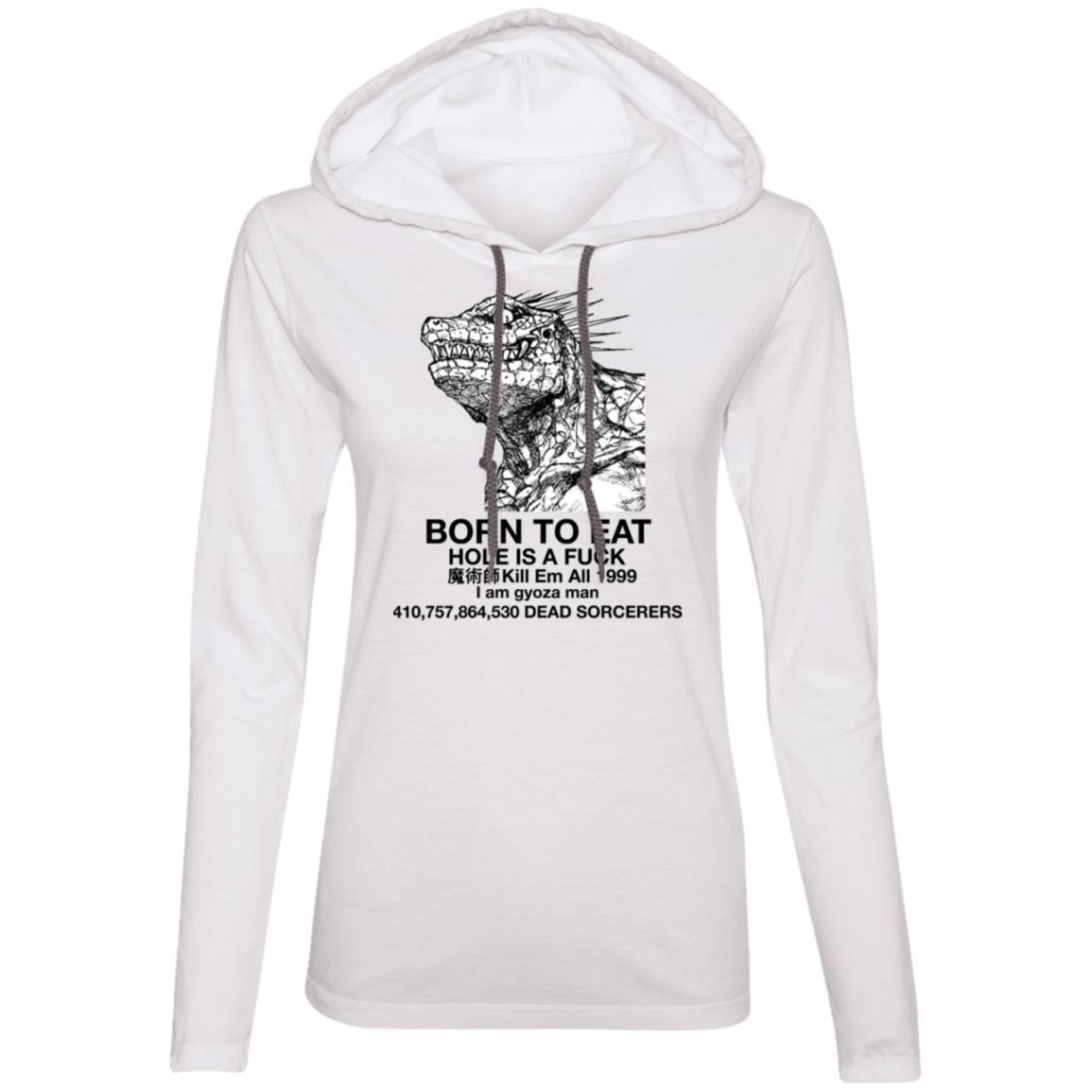 887L Ladies' LS T-Shirt Hoodie
